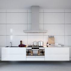 Interesting Contemporary Interior Design Comes with the Amazing Design: Wonderful White Kitchen Floating Cupboard Triple D Designs ~ anahitafurniture.com Interior Design Inspiration