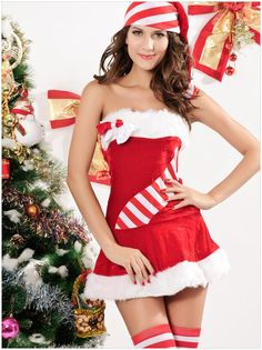 Christmas clothing ( collar red dress )