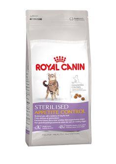 STERILISED APPETITE CONTROL - Kastrierte Katzen, die zu einer erhöhten Nahrungsaufnahme neigen. STERILISED APPETITE CONTROL hat einen hohen Gehalt an speziellen Fasern, die häufig bettelnde Katzen sättigen und das Hungergefühl auf natürliche Weise reduzieren. http://www.royal-canin.de/katze/produkte/im-fachhandel/nahrung-nach-mass/1-bis-7-jahre/sterilised-appetite-control/eigenschaften/