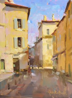 "Anne Blair Brown, ""Peeking Light"" 12x16 oil on linen"