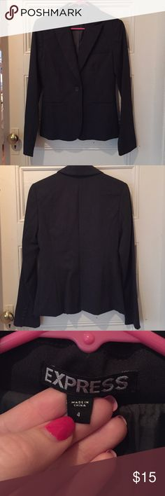 Black Professional Blazer by Express! Black dress blazer from Express! NWOT, never worn! In brand new condition! Great for working professionals! Express Jackets & Coats Blazers