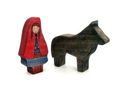 Little Red Riding Hood & Big Bad Wolf  Handmade by ArmadilloDreams, etsy