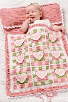 saco de bebe em croche