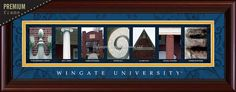 Wingate University - We have to discontinue this print.  Buy it while you can.  Once it's gone, it gone.  Too bad, it is a nice piece.  #wingate