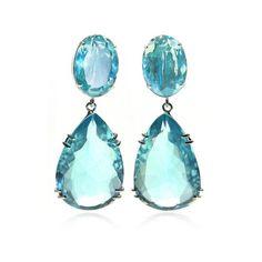 Bounkit Blue Quartz Drop Earrings ($385) ❤ liked on Polyvore