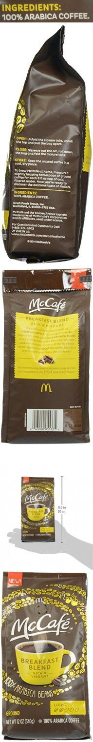 McCafe Coffee Breakfast Blend Ground Coffee, Light Roast, 12 Ounce