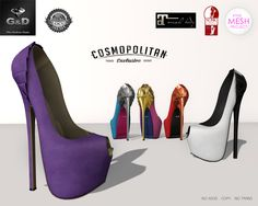 Exclusive for @ Cosmopolitan available in 10 color or fatpack http://maps.secondlife.com/secondlife/No%20Comment/130/28/23
