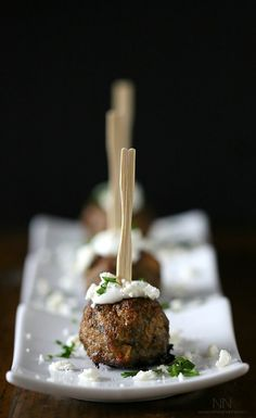 Greek Lamb Meatballs.  My hubby doesn't like meatballs, but that's OK - that means more for me :)!