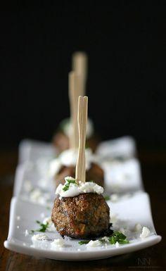 Greek Lamb Meatballs by Nutmeg Nanny