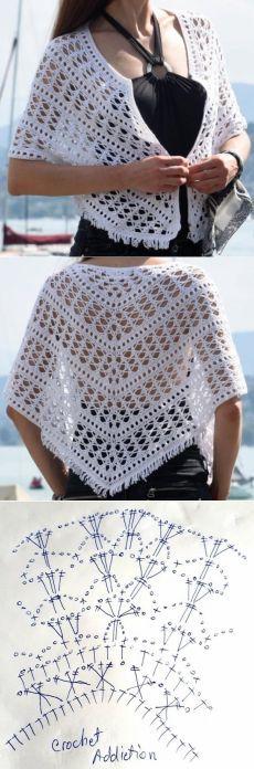 Crochet Girls Dress Pattern, Crochet Leaf Patterns, Pull Crochet, Mode Crochet, Crochet Poncho Patterns, Crochet Shirt, Crochet Cardigan, Crochet Scarves, Crochet Designs
