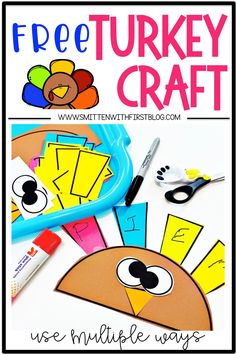 Free Turkey Name Craft for preschool, kindergarten, and 1st grade