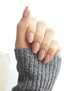 nude matte nails are perfect for every occasion