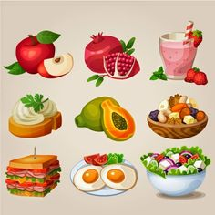 Alimentos y bebidas | Vector ClipArt