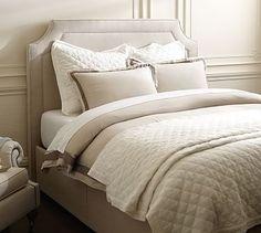 Ardley Upholstered Headboard & Storage Platform Bed #potterybarn 2750  57h