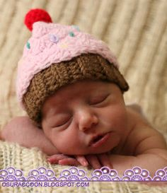 Scalloped Newborn Cupcake Hat Crochet Pattern ... I've made a version of this before.  It's a great gift!