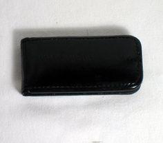 New Genuine Eel Skin Leather Magnetic Money Clip Wallet Slim Card Pocket Case