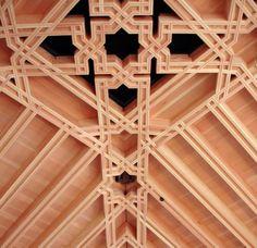 Exotic wood ceiling design