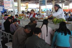 Photo of the Day - Real World #Ceviche - #Cuzco, #Peru - Here is a picture of a #ceviche stand in the middle of the central market in #Cuzco, #Peru. Look at the massive piles of fish that they are serving from. Look at how strikingly casual this space is and how normal the customers look. In #Peru you are able to find plates loaded with incredibly delicious ceviche for less than a couple of dollars. Photo from #absolutevisit at www.absolutevisit.com - all images Creative Commons Noncommercial