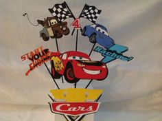 Disney Cars Party Centerpiece by DreamComeTrueParties on Etsy, $30.00