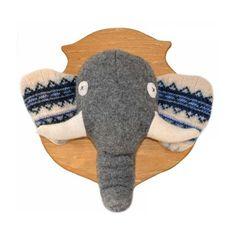 Elephant Animal Head Plaque