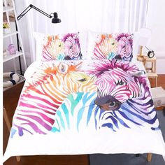 Home Textiles Safari Zebra cartoon style bedding set cover bed 2018 Gift Colored 3d Bedding Sets, Duvet Sets, Linen Bedding, Bed Linen, Set Cover, Quilt Cover Sets, Full Duvet Cover, Duvet Covers, Zebra Cartoon