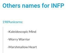 INFP - other names -- lol who came up with these?