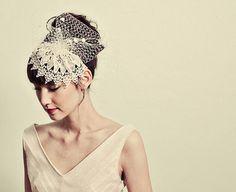 Bandeau chapeau dentelle vénitienne par mignonnehandmade