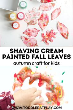 Easy and unique Fall craft idea for kids! #fallleaves #autumncraft #fallcrafts #fallcraftsforkids Activities For 2 Year Olds, Indoor Activities For Kids, Preschool Ideas, Craft Activities, Toddler Activities, Fall Crafts For Kids, Toddler Crafts, Kids Crafts, Arts And Crafts