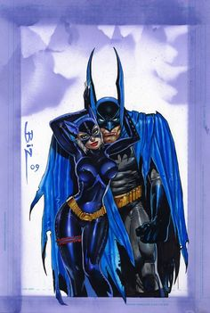 Simon Bisley Art - Batman & Catwoman Painting (SOLD) Comic Art