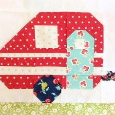 Looking for your next project? You're going to love Vintage Camper Quilt Block Pattern by designer homespunh.