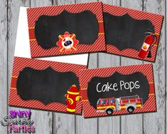 Printable FIRETRUCK FOOD TENTS Firetruck by ShinySparklyParties