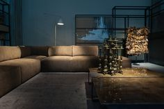 A view of the Bottega Veneta home collection. . ~ Designers Show Home Colections at Salone del Mobile. WWD