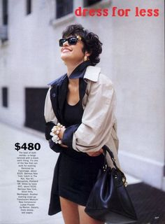 'Dress For Less' from……….Vogue November 1989 feat Marielle MacVille