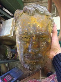 Cast glass portrait /friend with broken nose.