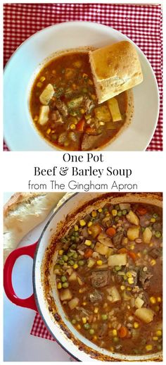 One Pot Beef & Barley Soup- hearty, warm, healthy, and delicious. This meal is a simple and easy way to warm up a cold winter day. #light #healthy #wholegrains #beef #soup #stew #chowder #onepotmeal #quickandeasymeal #veggies #vegetable #winter