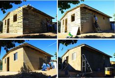 The forester Mario Alberto Retana Tapia has had the opportunity to help poor families with various small houses build with wooden pallets . Mario began Pallett Ideas, Diy Fort, Self Build Houses, Pallet House, Build Your Own House, Diy Pallet Furniture, Building A Shed, House Built, Wooden Pallets