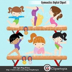 Gymnastics Clipart / Girls Gymnastics Cute Digital Clipart / For Personal and Commercial Use ** INSTANT DOWNLOAD **** Once payment is confirmed, the download links will be sent to the e-mail associated with your Etsy account upon notification of payment. Please check your inbox and spam folder too. If youd like us to send your order to an alternate email address please let us know. If you do not receive your files or cannot download, please email me and I will send the files via em...