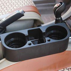 Auto General Double Din Radio Pocket Kit w//Drink-Cup Holder //Storage Box Fine