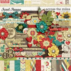 Across the Miles by Amber Shaw  digital scrapbook kit