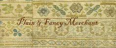 Plain & Fancy Merchant - Americana cross stitch