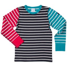 Love this! at Polarn O. Pyret UK & Ireland STRIPED KIDS TOP #polarnopyretuk #qualitychildrensclothes #colourfulkidsclothes Polarn O. Pyret-stripe top in organic cotton. Extra-soft seams that don't chafe.