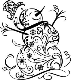 Swirly Snowman – Sawdust & Swirls S . Christmas Doodles, Christmas Stencils, Christmas Wood Crafts, Christmas Vinyl, Christmas Drawing, Christmas Coloring Pages, Christmas Paintings, Christmas Clipart, Christmas Colors