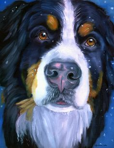 Bernese Mountaind dog by Lyn Cook
