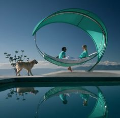 Wave Outdoor Sofa  Very cool