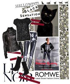 """Romwe Free Skeleton Leggings For Halloween"" by valeria-87 ❤ liked on Polyvore"