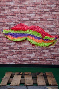 Colorful Mustache Piñata. Exclusively at La Piñata Party. El Segundo, CA.