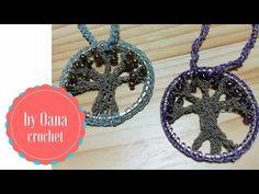 (91) L'albero della vita ciondolo all'uncinetto by Oana - YouTube Crochet Tree, Crochet Mandala, Crochet Motif, Crochet Flowers, Free Crochet, Chunky Crochet, Crochet Craft Fair, Crochet Crafts, Crochet Projects