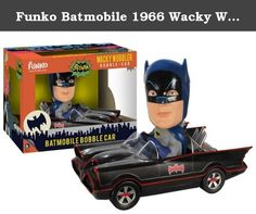 Funko Batmobile 1966 Wacky Wobbler. Have the classic 1966 Batman TV series Batmobile and Batman bobbling up and down on your desk - looking just like during the travel scenes in the iconic show! This Batman 1966 TV Series Batmobile Bobble Head Vehicle features Batman inside of his trusty crime-fighting coup as a stylized wacky wobbler. It's the perfect item for classic Batman fans!.