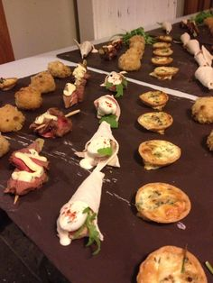 An army of canapés from the kitchens at Maunsel House