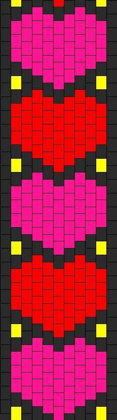 Hearts Bead Pattern